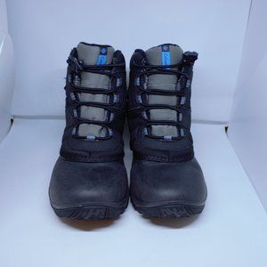 Columbia Boys All Weather Black Snow Boots 4 Youth